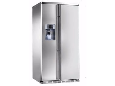 Frigorifero americano no frost in acciaio inox con dispenser ...