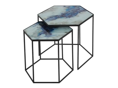 Glass coffee table ORGANIC | Coffee table