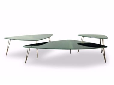 Lacquered triangular coffee table ORGANIQUE