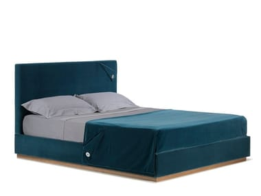 Double bed with upholstered headboard ORIANA