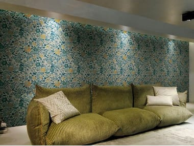 Nonwoven wallpaper with floral pattern ORIENTAL GARDEN