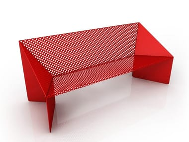 Perforated metal Bench ORIGAMI