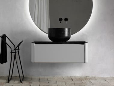 Lacquered single wall-mounted vanity unit ORIGIN | Vanity unit with drawers