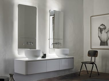 Double wall-mounted vanity unit with drawers ORIGIN | Wall-mounted vanity unit