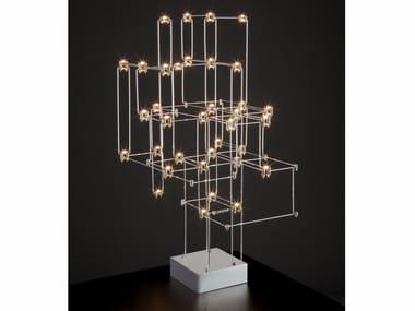 Lampada da tavolo in nichel ORION | Lampada da tavolo