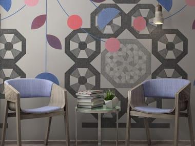 Geometric vinyl wallpaper ORN18_057 | Wallpaper