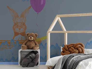 Contemporary style synthetic material kids wallpaper ORN18_060   Wallpaper