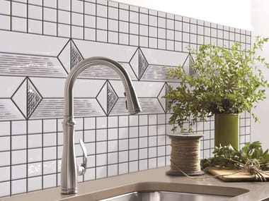 Indoor/outdoor polyurethane mosaic ORNAMENT BRUGNA