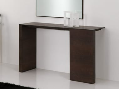 Lacquered rectangular MDF console table OROT