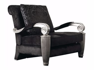 Fabric armchair with armrests ORPHEO