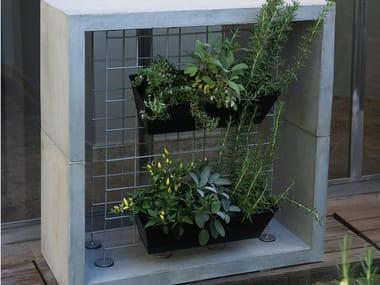 Grade para jardim vertical autônoma de cimento ORTO IN CASA