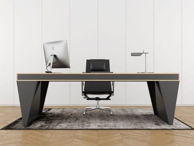 Steel and wood executive desk with drawers OS1