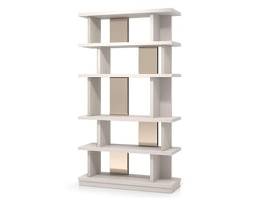 Open freestanding wooden bookcase OSAKA