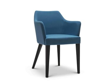 Upholstered fabric chair with armrests OSCAR 242