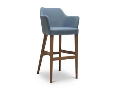 High upholstered stool with armrests OSCAR 243