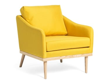 Fabric armchair with armrests OSCAR