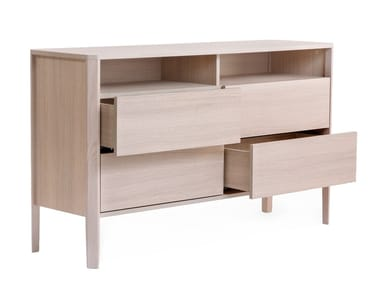 Wood veneer sideboard with drawers OSLO | Sideboard