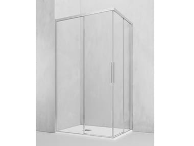 Box doccia angolare con porta scorrevole OT-ASC + OT-ASC