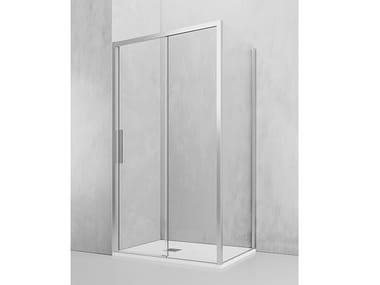 Box doccia angolare con porta scorrevole OT-FA + OT-PSC