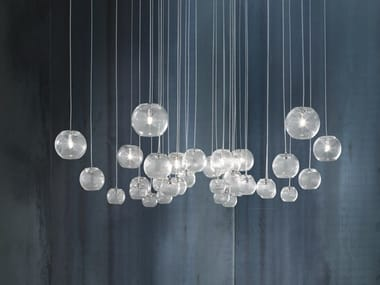 Blown glass pendant lamp OTO SP CHA