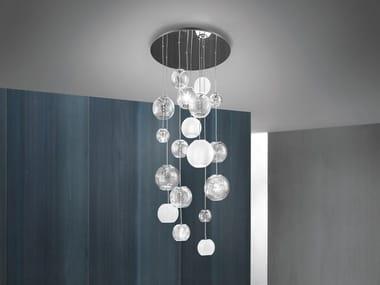Lámpara colgante de vidrio soplado OTO SP R