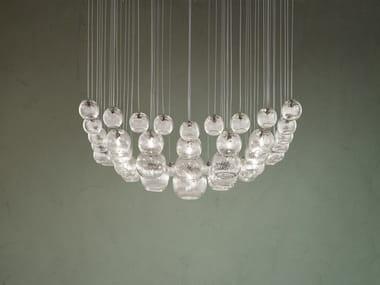 Blown glass pendant lamp OTO SP SUR