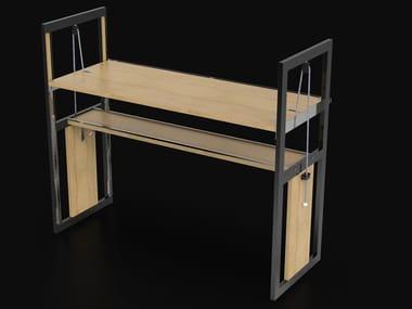 Height-adjustable rectangular writing desk OTTOH
