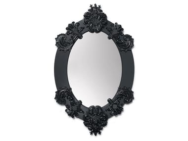 Oval wall-mounted mirror OVAL MIRROR BLACK