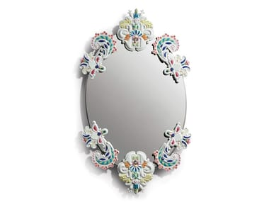 Oval wall-mounted mirror OVAL MIRROR W/O FRAME MULTICOLOR