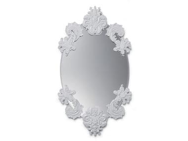 Oval wall-mounted mirror OVAL MIRROR W/O FRAME WHITE
