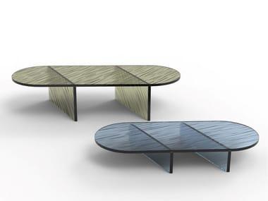 Oval glass coffee table OVALE