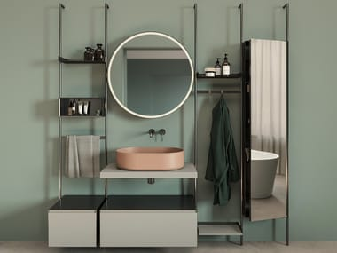 Vanity unit with mirror OVER