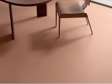 Pavimento/rivestimento in gres porcellanato effetto terra OVERCLAY COTTO