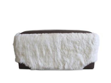 Pouf rettangolare in pelle di pecora OVINO   Pouf