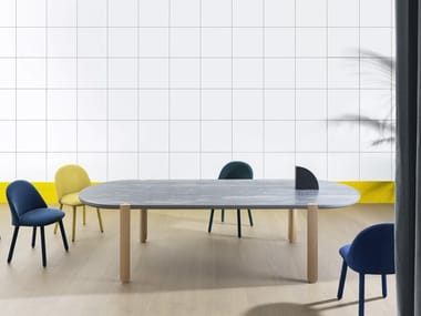 Oval ceramic dining table OVO | Ceramic table