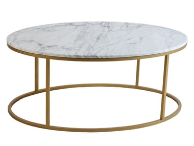 Oval marble coffee table OWALNY