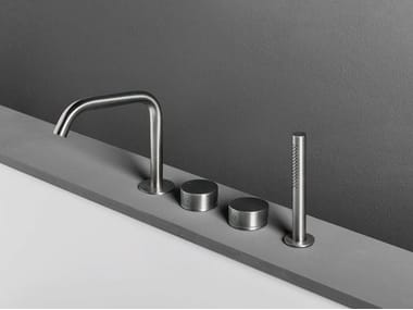 4 hole bathtub set with hand shower OX | 4 hole bathtub set