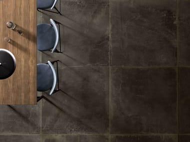 Pavimento/rivestimento in gres porcellanato OXIDART BLACK