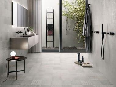 Porcelain stoneware wall/floor tiles OXIDART SILVER
