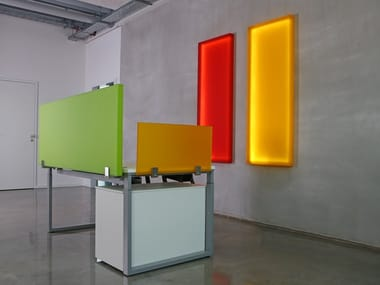 Sound absorbing plexiglass workstation screen desktop partition Office desk combination