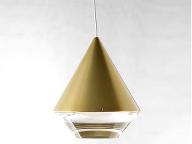 LED Anodized aluminium pendant lamp with dimmer ALTO