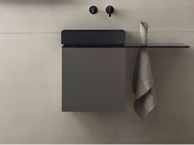 Wall-mounted vanity unit with door P40