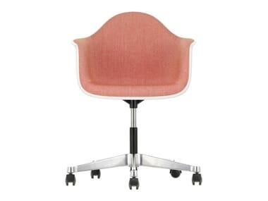 Sedia ufficio girevole in tessuto con braccioli PACC | Sedia ufficio in tessuto