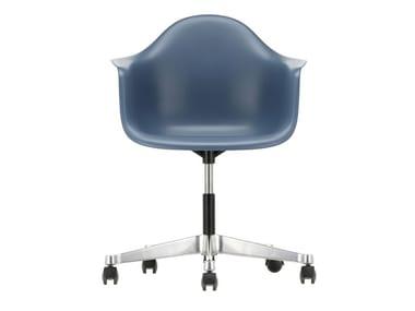 Sedia ufficio girevole in polipropilene con braccioli PACC | Sedia ufficio in polipropilene