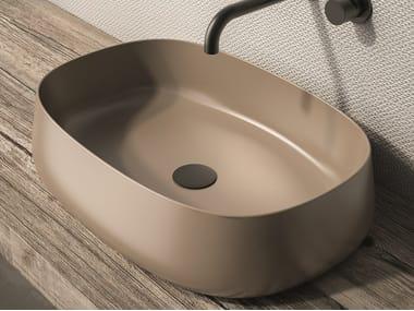 Countertop oval ceramic washbasin PADDLE | Oval washbasin