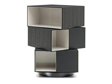 Contemporary style freestanding swivel wooden bookcase PAGE