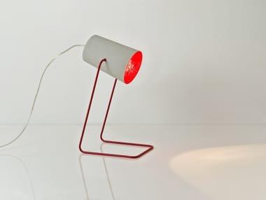 Lampada da tavolo in resina effetto cemento PAINT T CEMENTO