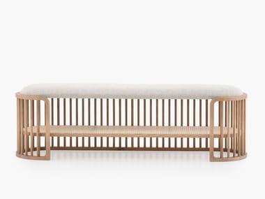 Panca imbottita in legno PALÙ | Panca