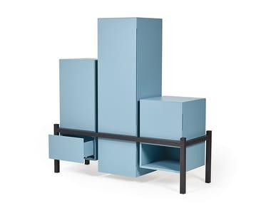 Modular highboard with doors PALAFITTA   Modular highboard