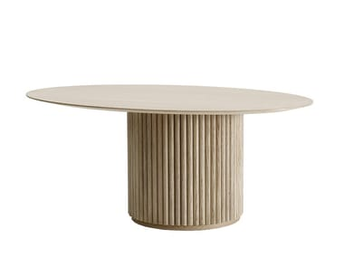 Contemporary style oval wooden living room table PALAIS OVALE